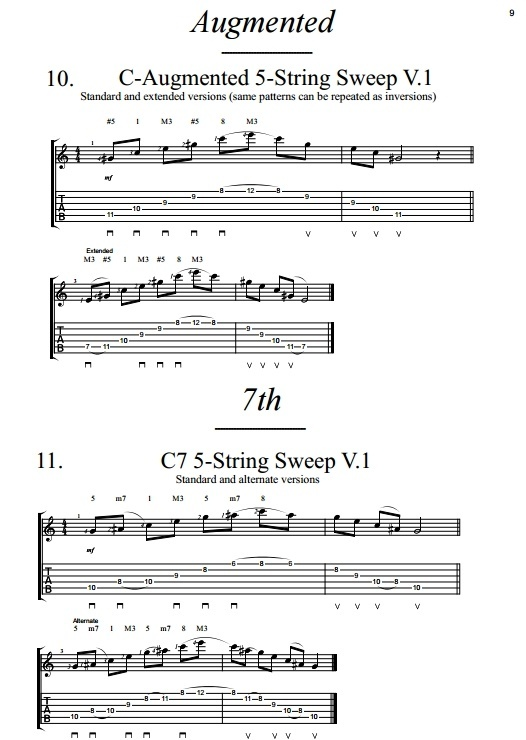 Dan Mumm's Sweep Picking Compendium - Volume 3 - 5-String Patterns - PDF eBook and 60 Guitar Tabs