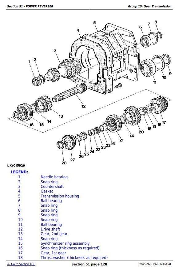 John Deere 6010, 6110, 6210, 6310, 6410, 6510, 6610 (SE) Tractors Repair Service Manual (tm4559)