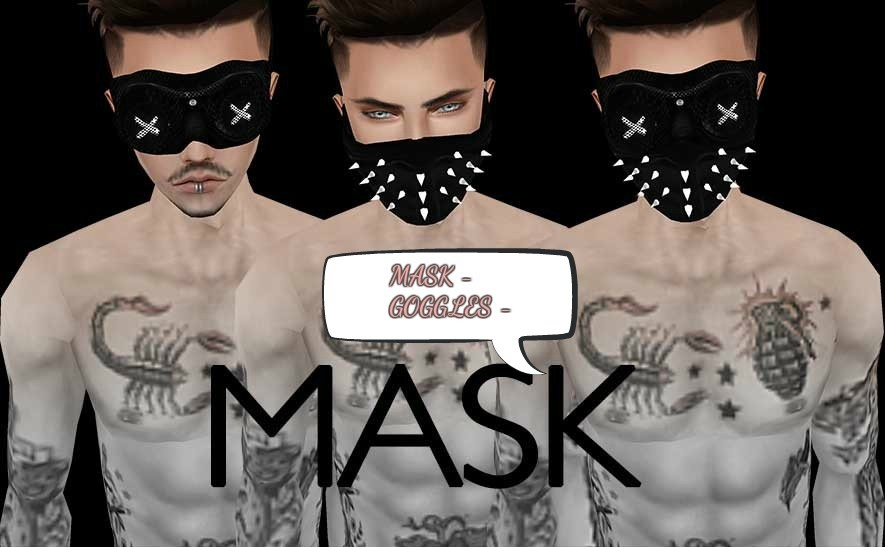 Googles and Mask can be left derivable with textures --- ( not in the 75% sale )