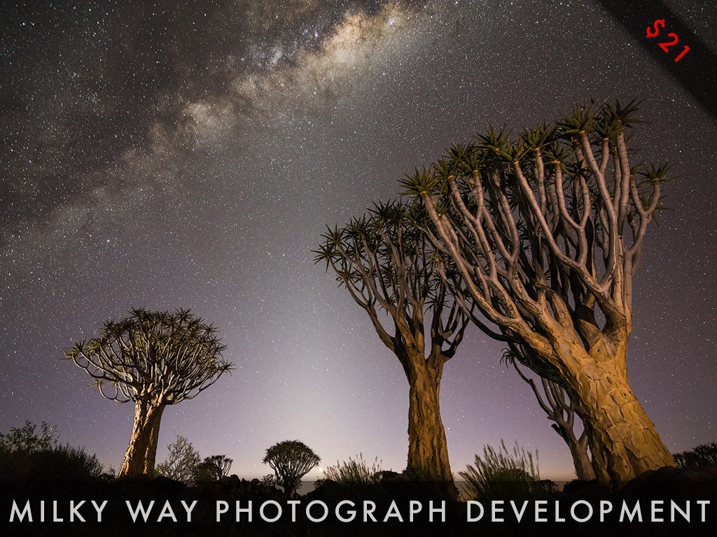 Milky Way Photograph Development Video Tutorial Series