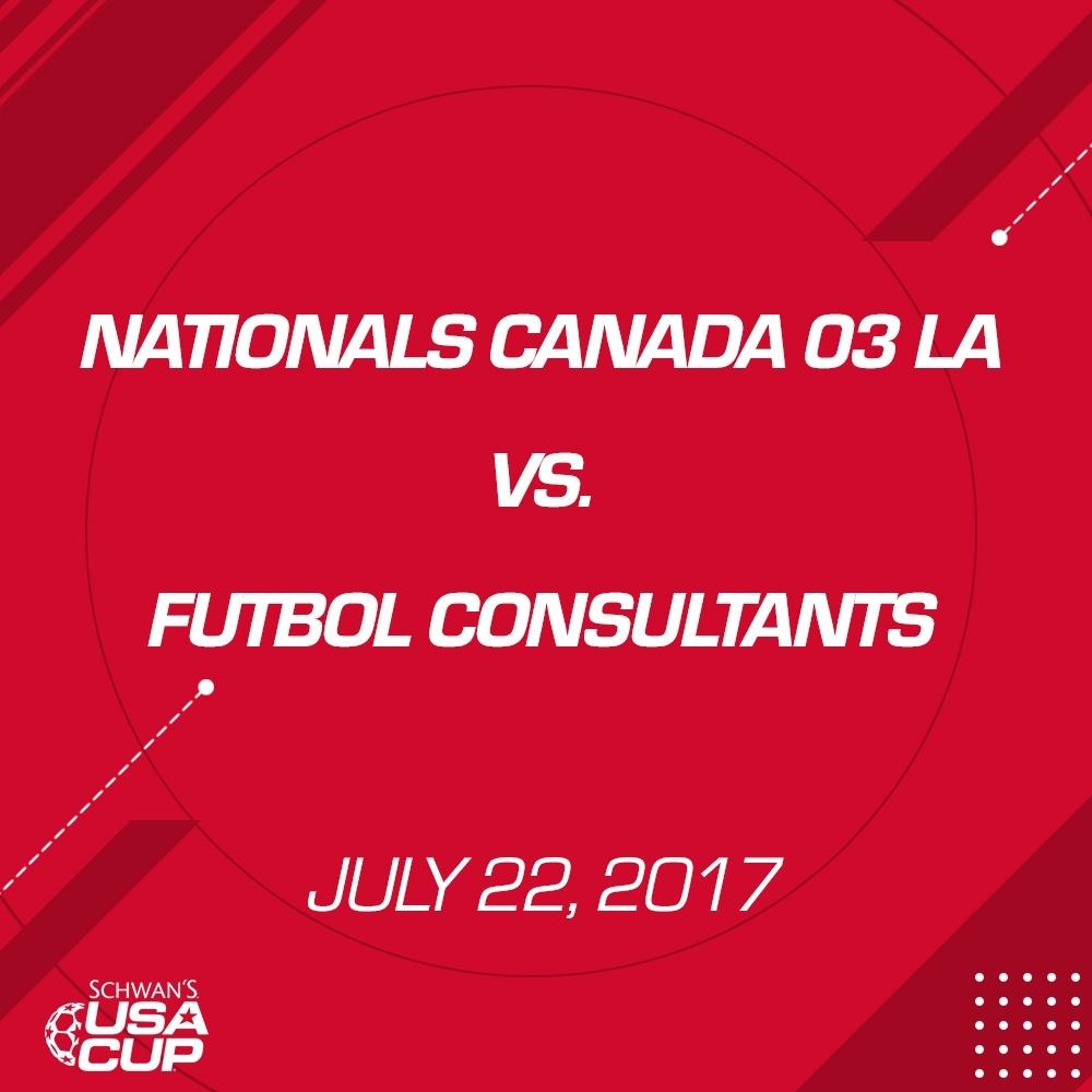 Boys U14 Gold - July 22, 2017 - Nationals Canada 03 LA vs Futbol Consultants