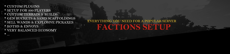 ❤ ♦ FACTIONS SERVER ♦  ❤ | Professional, Cheap, Custom Plugins