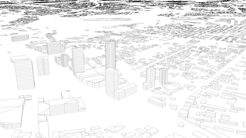 Vilnius Streets and Buildings Architectural 3D Model