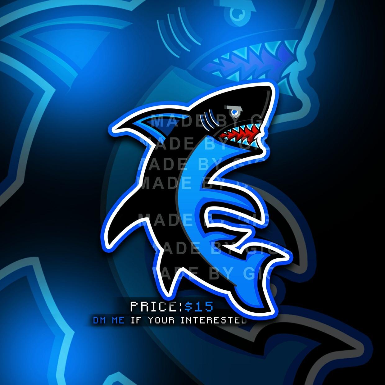 PREMADE Drawn Mascot Logo Design - Shark (One time selling)