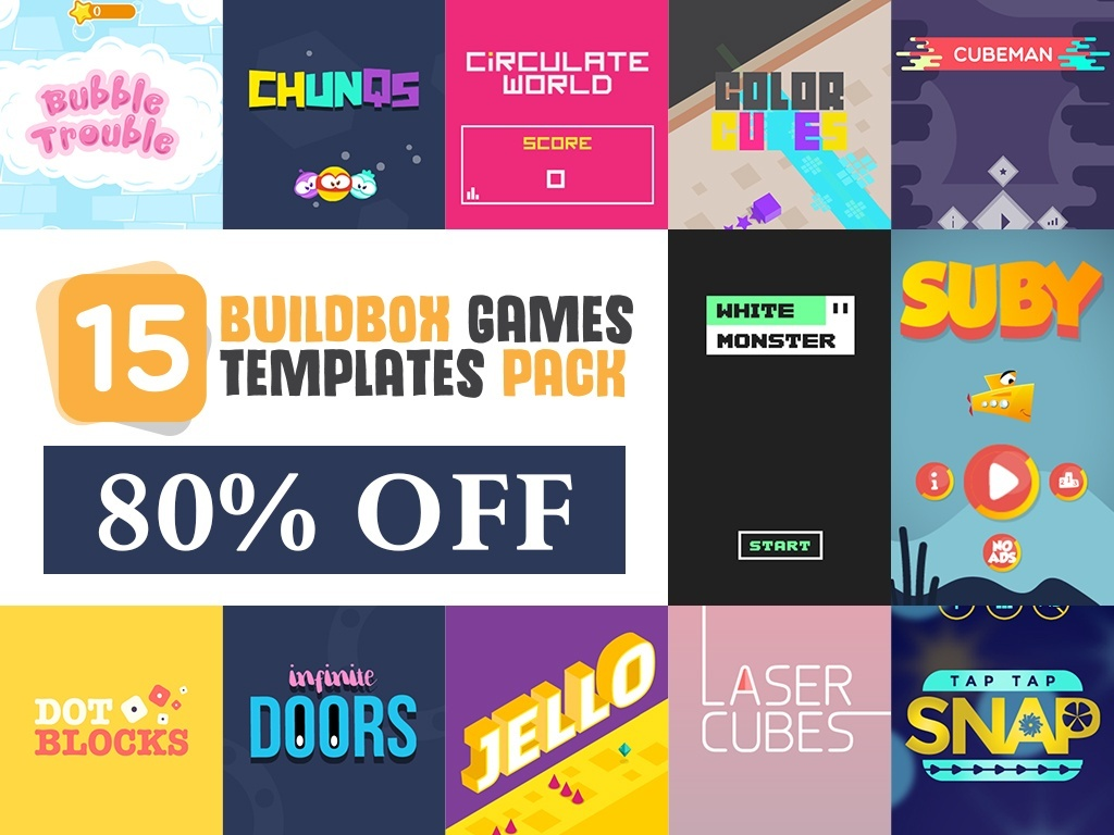15 BUILDBOX GAME TEMPLATES - 90% OFF