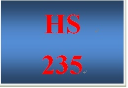 HS 235 Week 3 Public Assistance Program Review