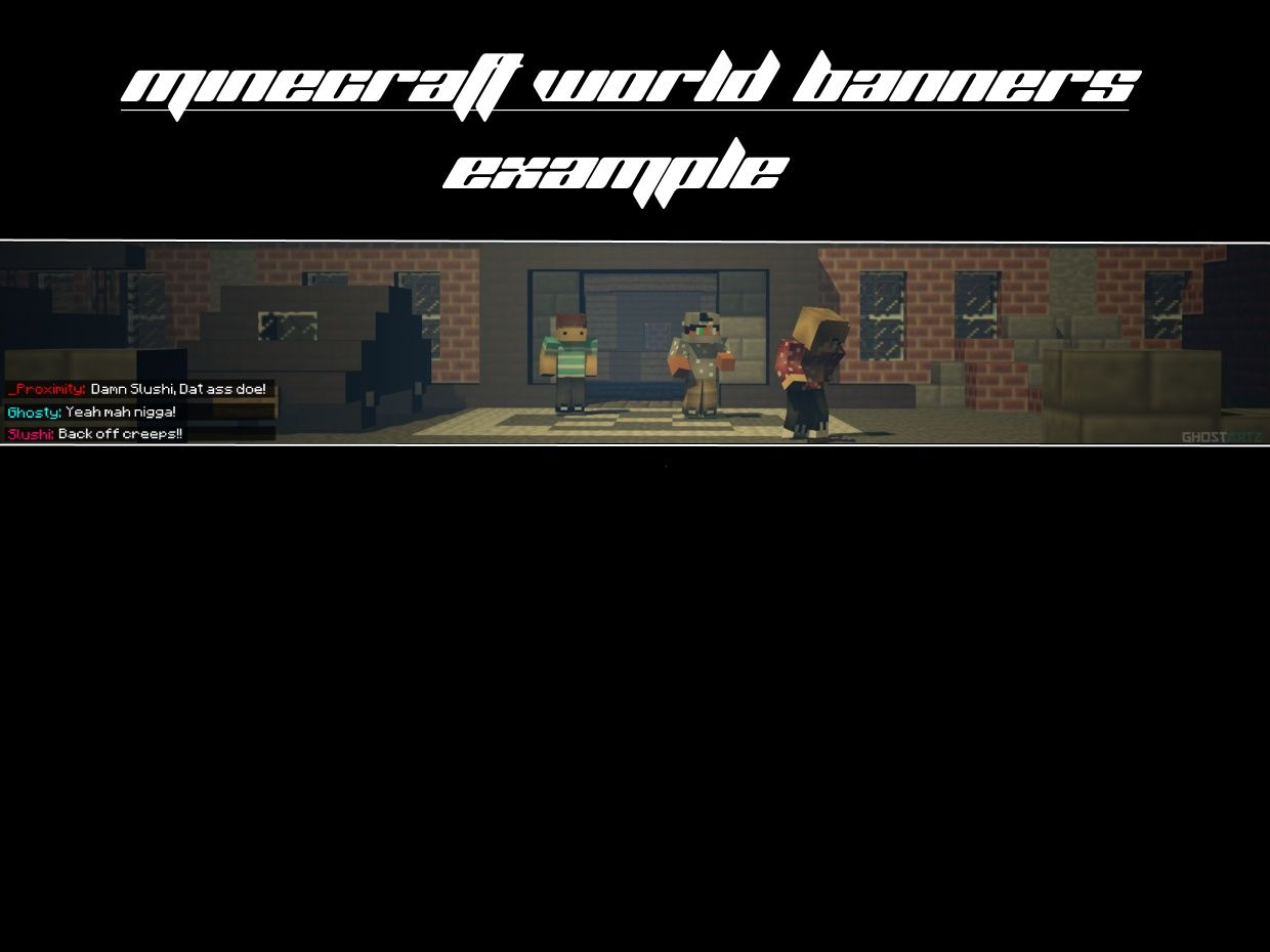 Minecraft World Render Banner