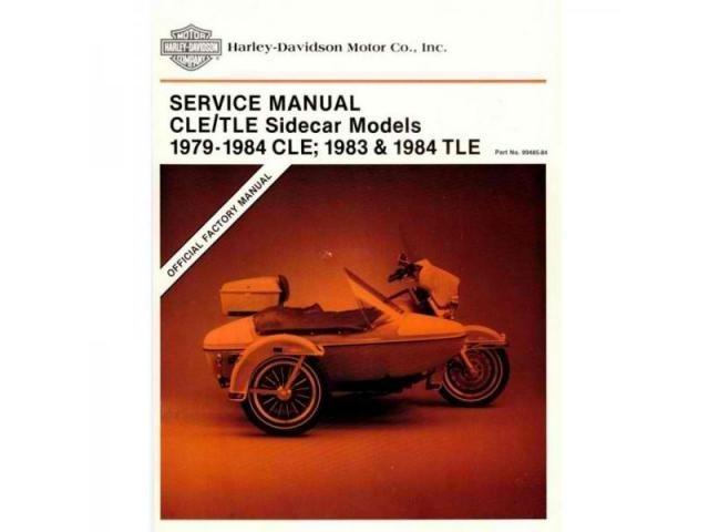 HARLEY-DAVIDSON-SIDECAR MODELS-CLE-(1979-1984)-TLE-(1983-1984)-SERVICE MANUAL