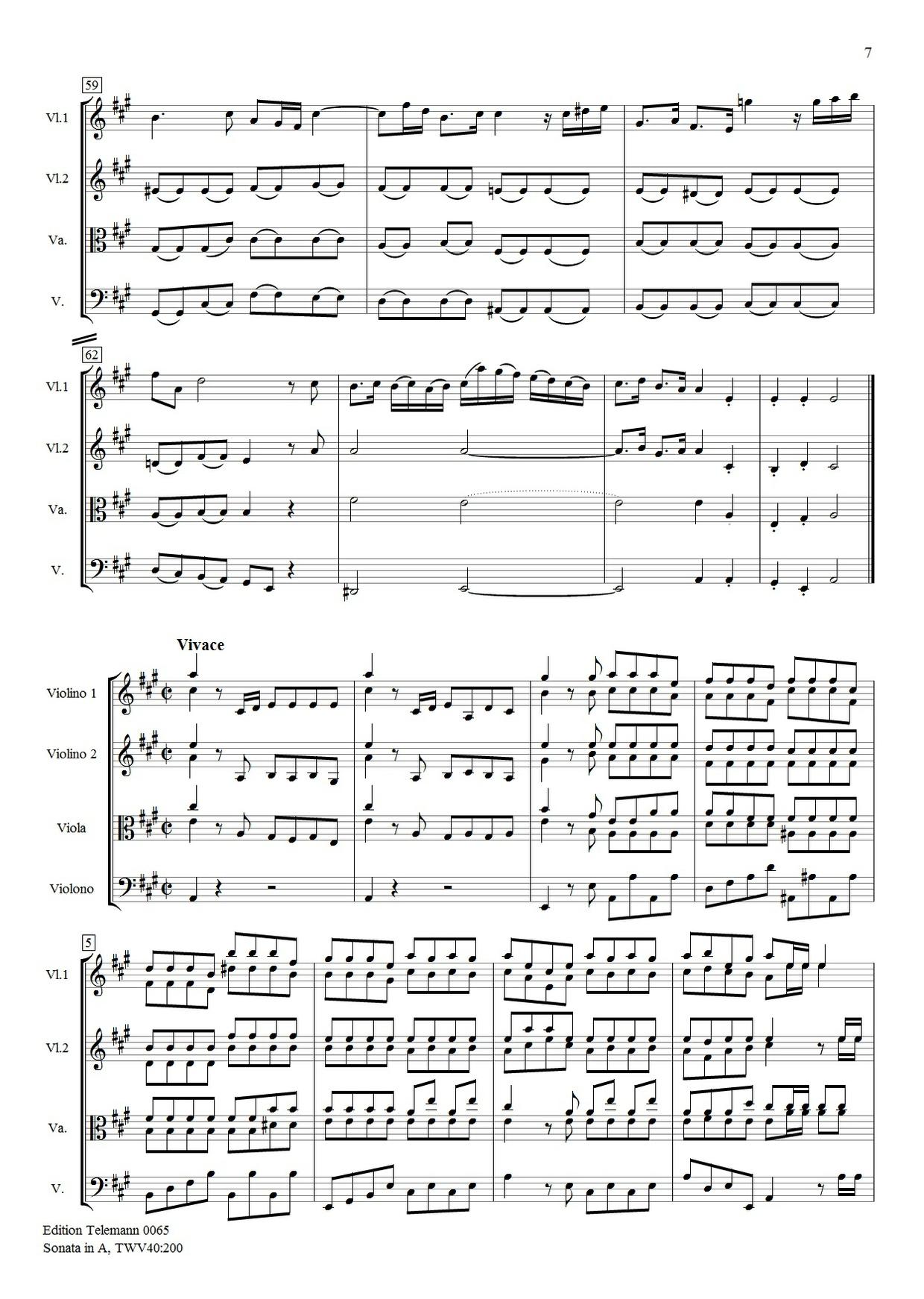 Sonata in A TWV40:200