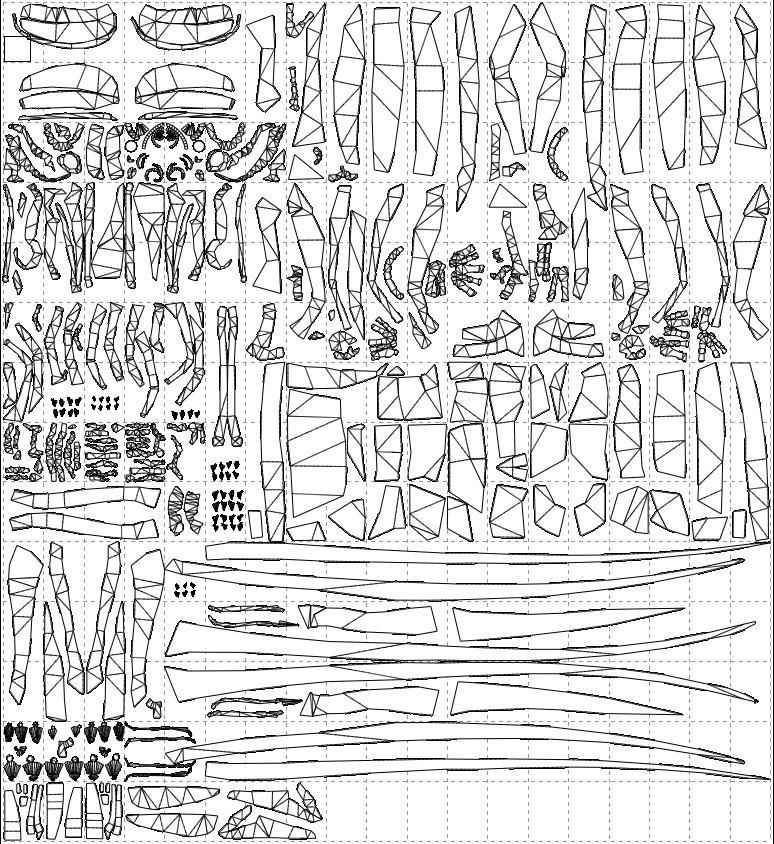 Dilophosaurus Life Size CP66 A4 paper PDO File