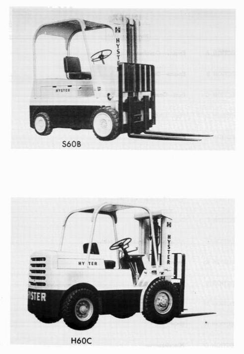 Hyster Forklift C005: H100C, H120C, H60C, H70C, H80C, S100B, S60B, S70B, S80B Workshop Manual