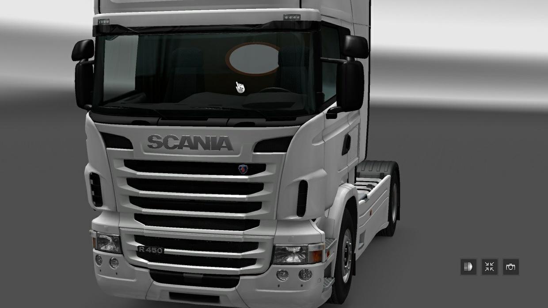 Mirror backwall Scania Rjl