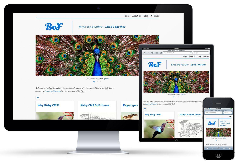 BoF website theme for Kirby CMS