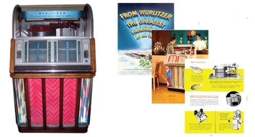 Wurlitzer Model 1600, 1600A, 1650, 1650A  (1953-54)