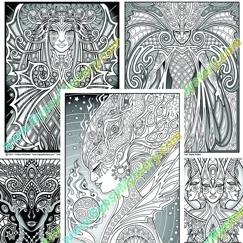 Lost Lumina Coloring Book, Digital Edition .pdf Download