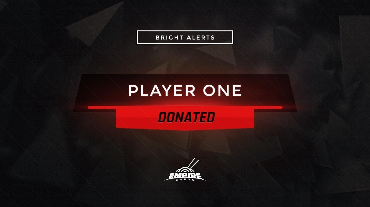 Stream Alert Set - Bright (x4) - Red