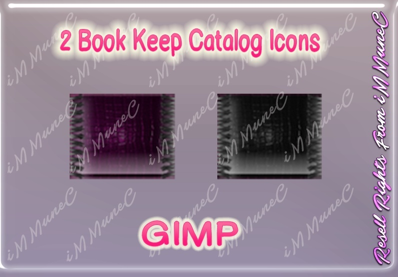 2 Book Keep Catalog Icons GIMP (Halloween)
