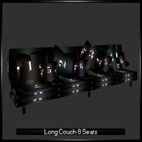 Long Couch 8 Seats