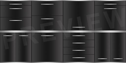 Modern Dark Cabinet Texture Pack