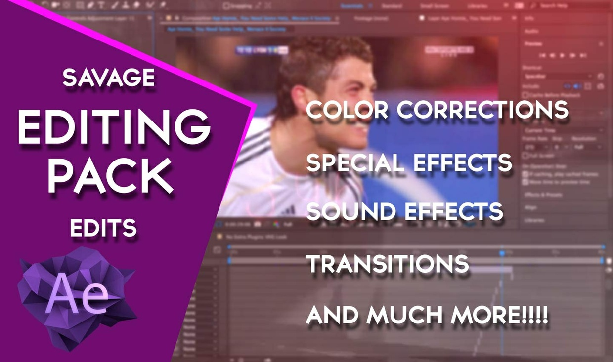 Savage Edits Editing pack: 80+ Color Corrections, Sound Effects, Transitions and Effects!!!!