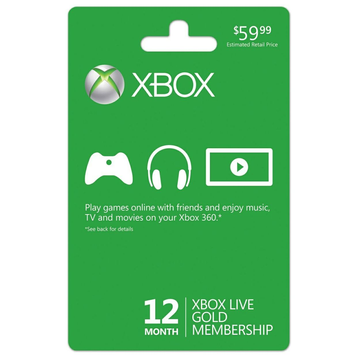 12 Months Xbox Live Digital Code!
