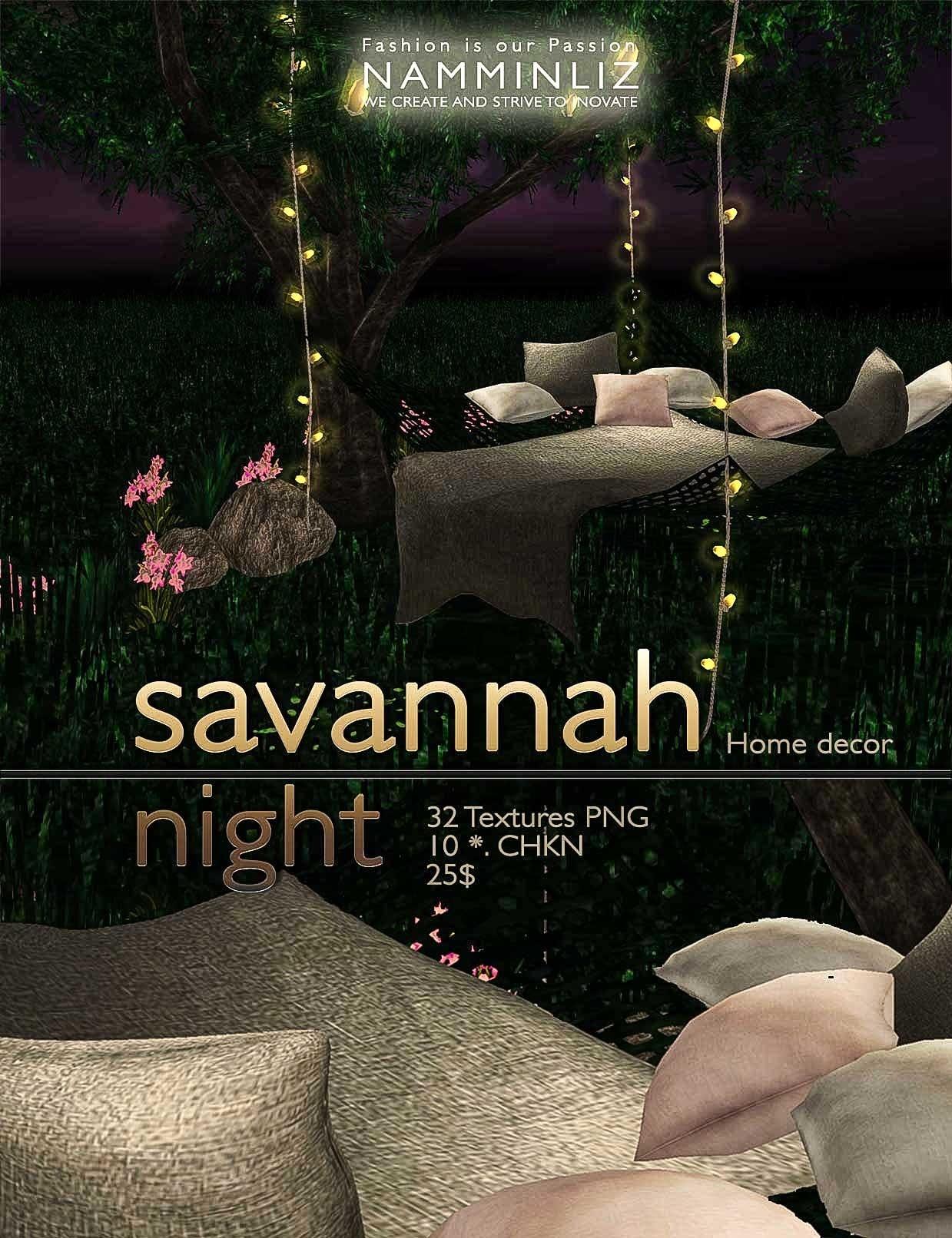 Savannah Night imvu Home decor •28 Textures PNG  •10 *.CHKN NAMMINLIZ
