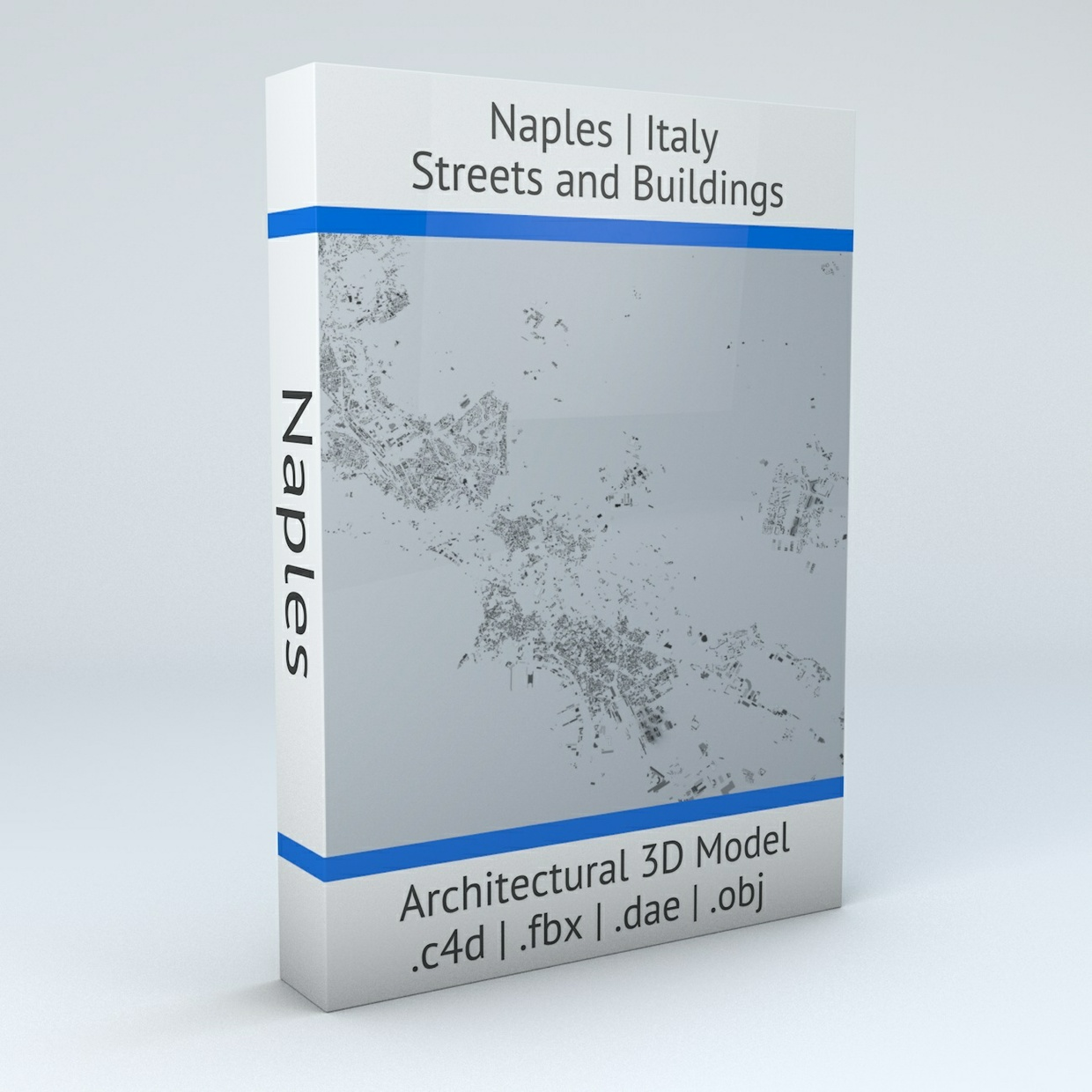 Naples Downtown Area and Scampia Streets and Buildings Architectural 3D Model