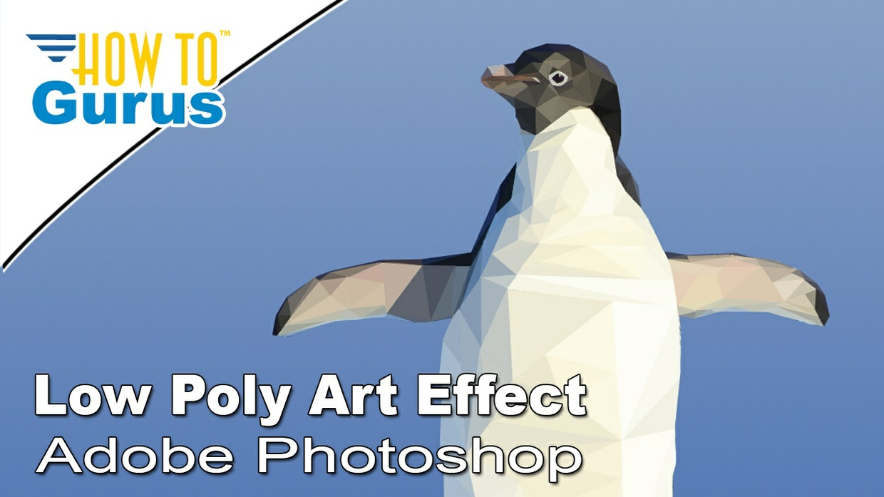Photoshop Art Tutorial for Beginners: Low Poly Artwork Effect in CC 2017 CS6 CS5