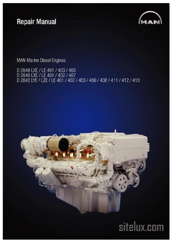 MAN Marine Diesel Engine D2848, D2840, D2842 (LXE-LYE-LZY-LE4) Repair Manual