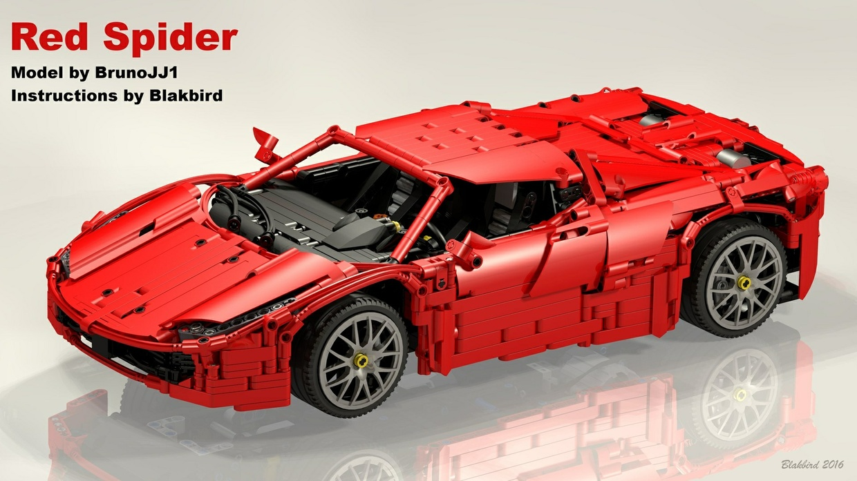 Lego Technic Red Spider building instructions