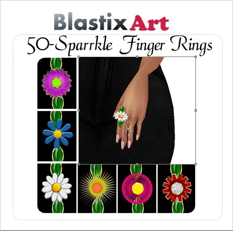 New-50 Sparkle  Rings Spring Collection