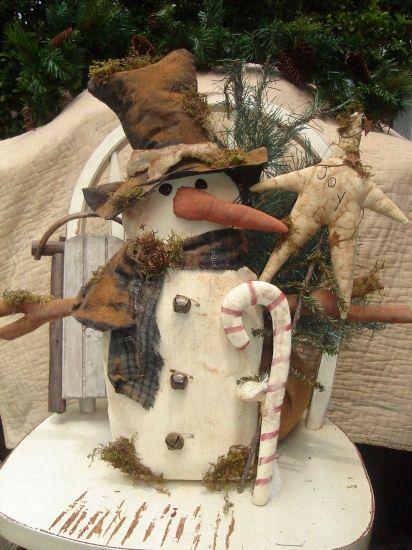 #413 Olde Thyme Snowman e pattern