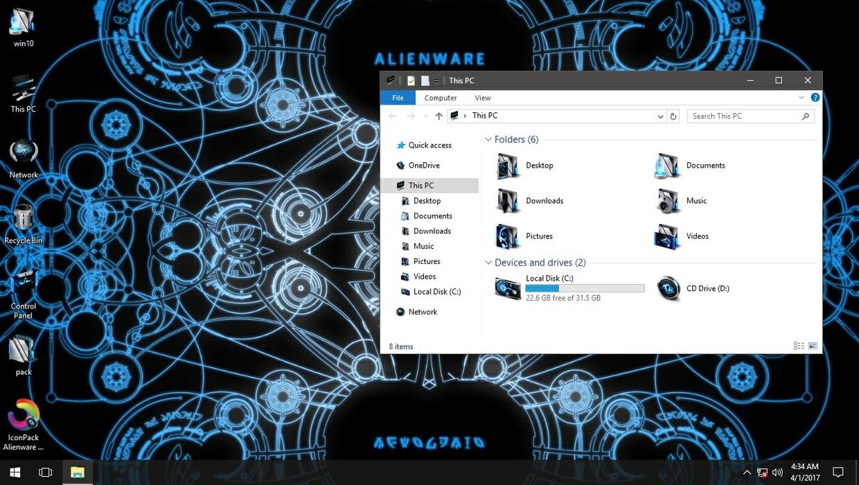 Alienware Invader Blue IconPack