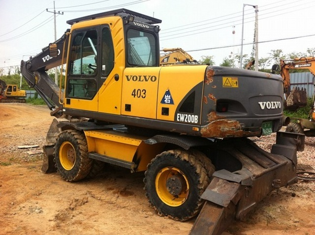 VOLVO EW200B WHEELED EXCAVATOR SERVICE REPAIR MANUAL - DOWNLOAD