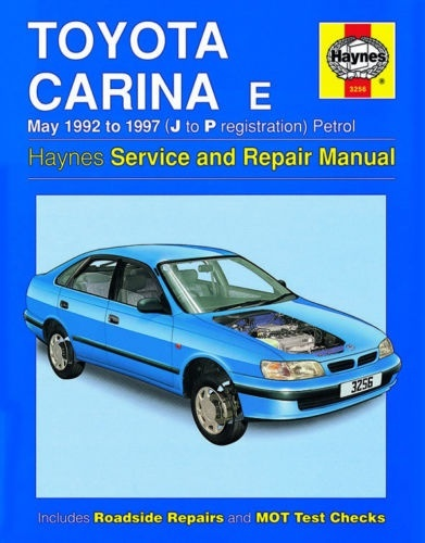 Toyota Carina E 1992 -1997 (J to P registration) Petrol Haynes Service Repair Manual