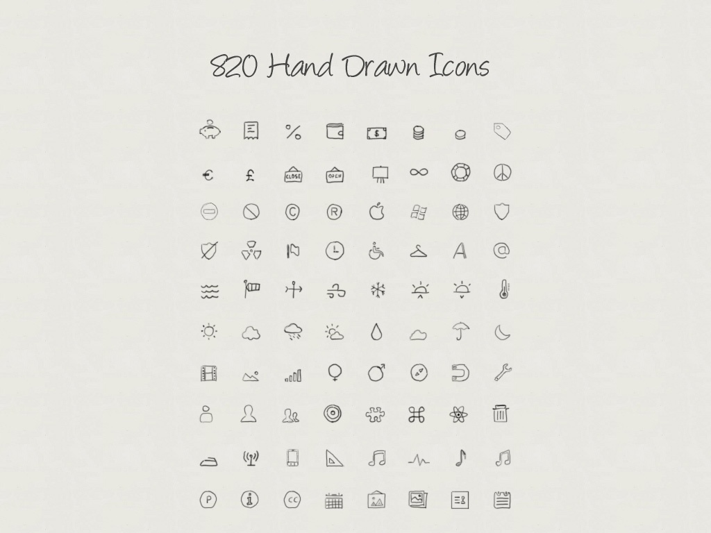 Hand Drawn Icons V.2