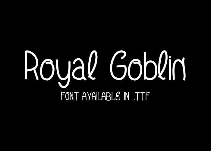 Royal Goblin - font.