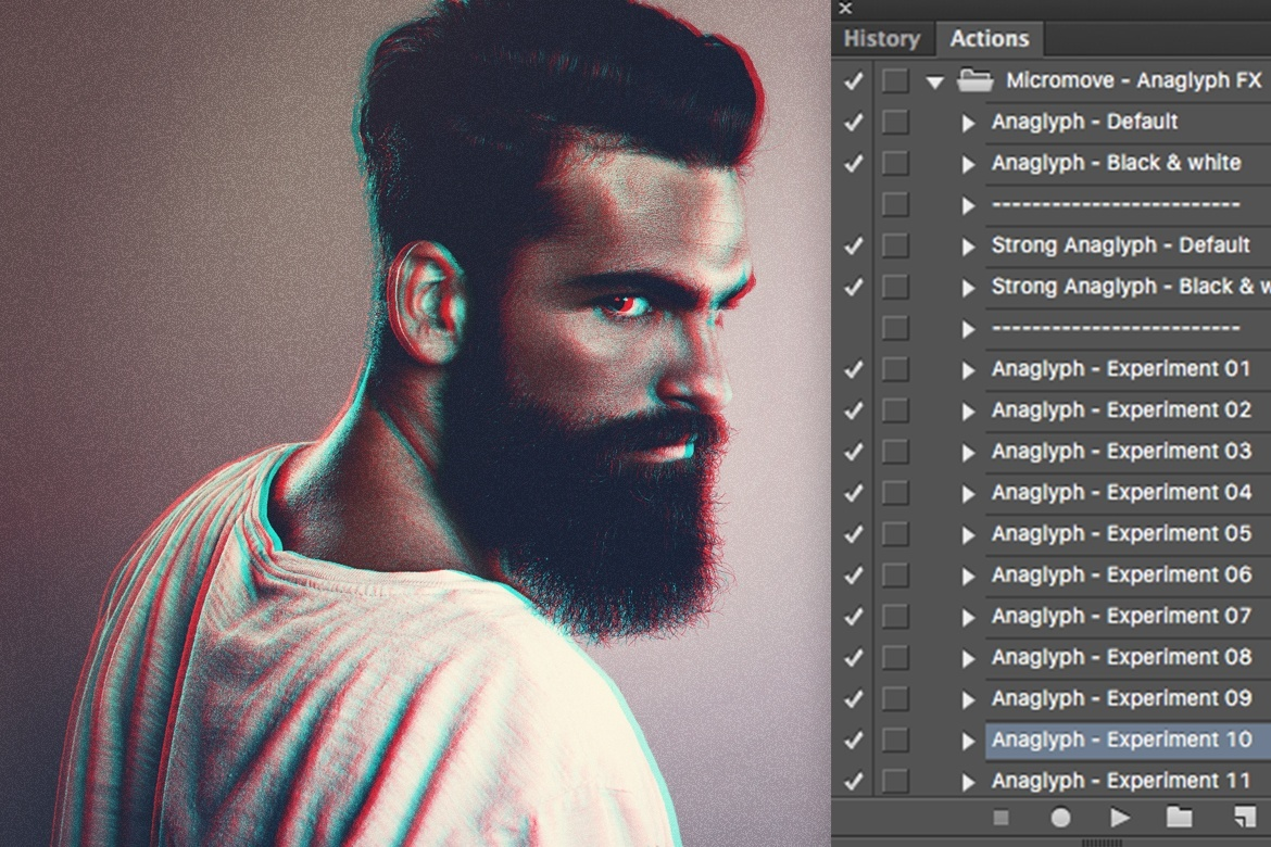 Anaglyph Photoshop Actions V2
