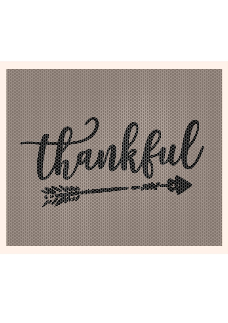 Thankful and Arrow SVG, Thankful SVG