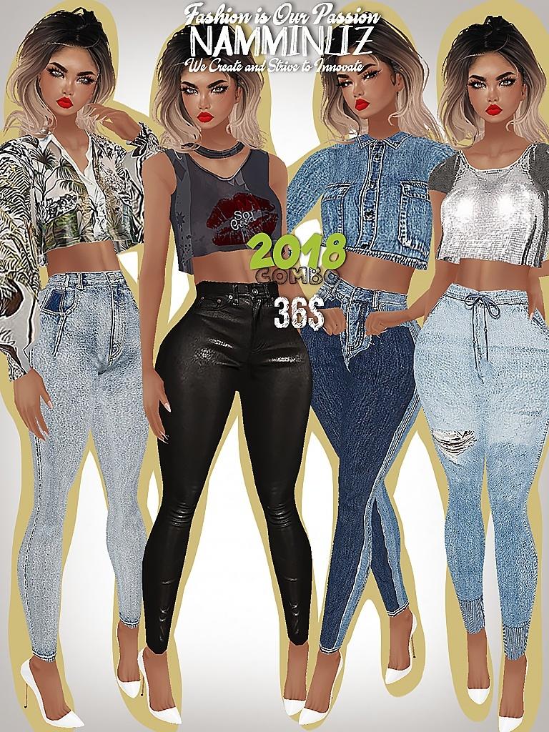 FULL 2018 COMBO  4 Bibirasta top + 4 Jean Sis3d/Bibirasta All sizes