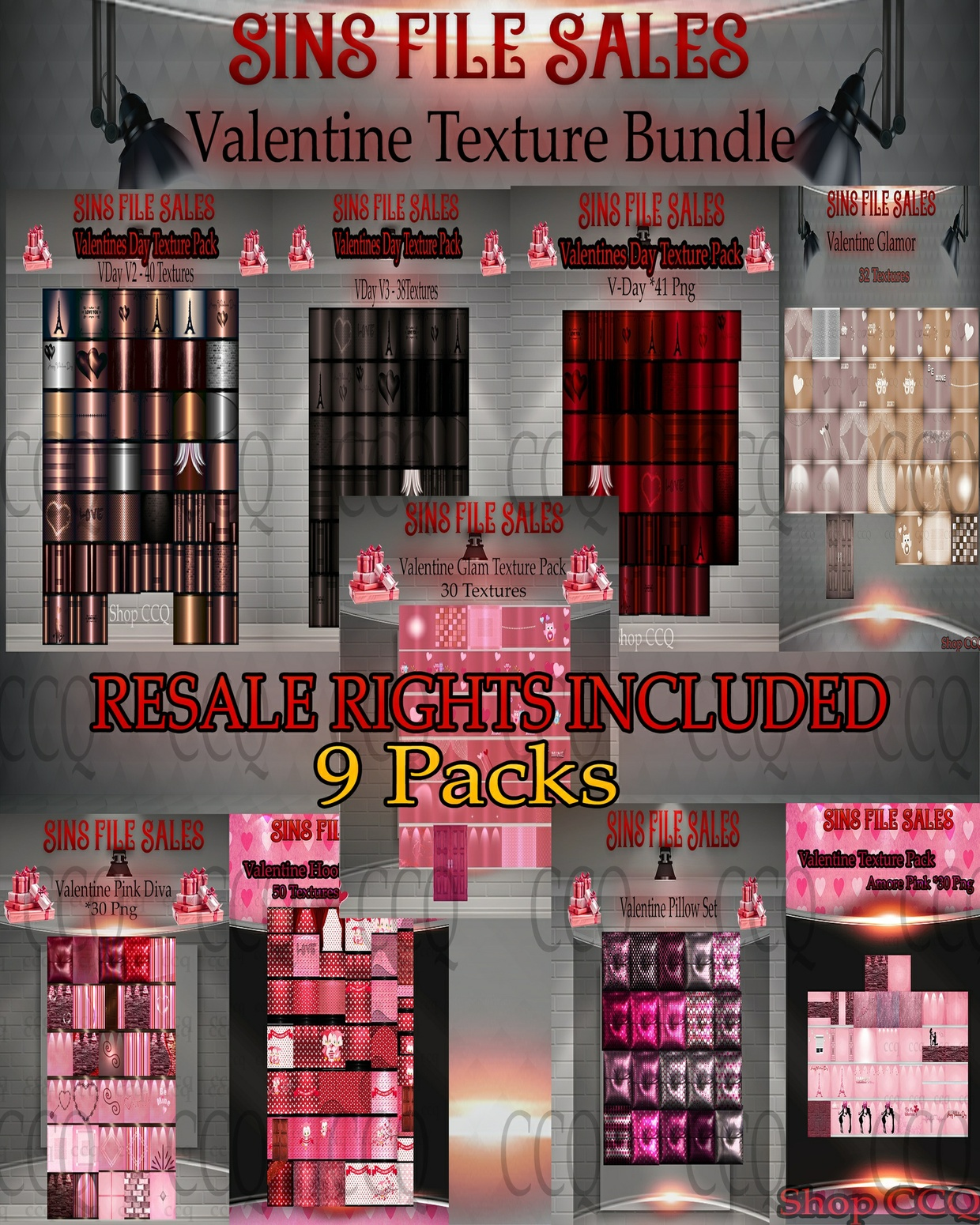 ♥Valentine Texture Mega Bundle♥With Resale Rights