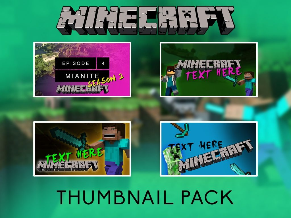 Minecraft Thumbnail Pack