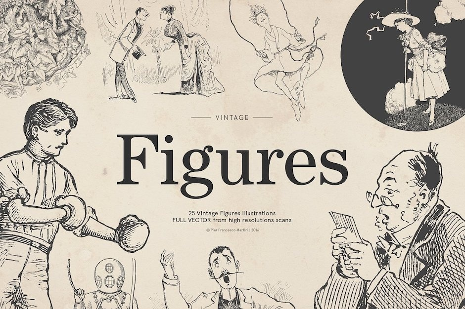 25 Vintage Figures - Vol.4