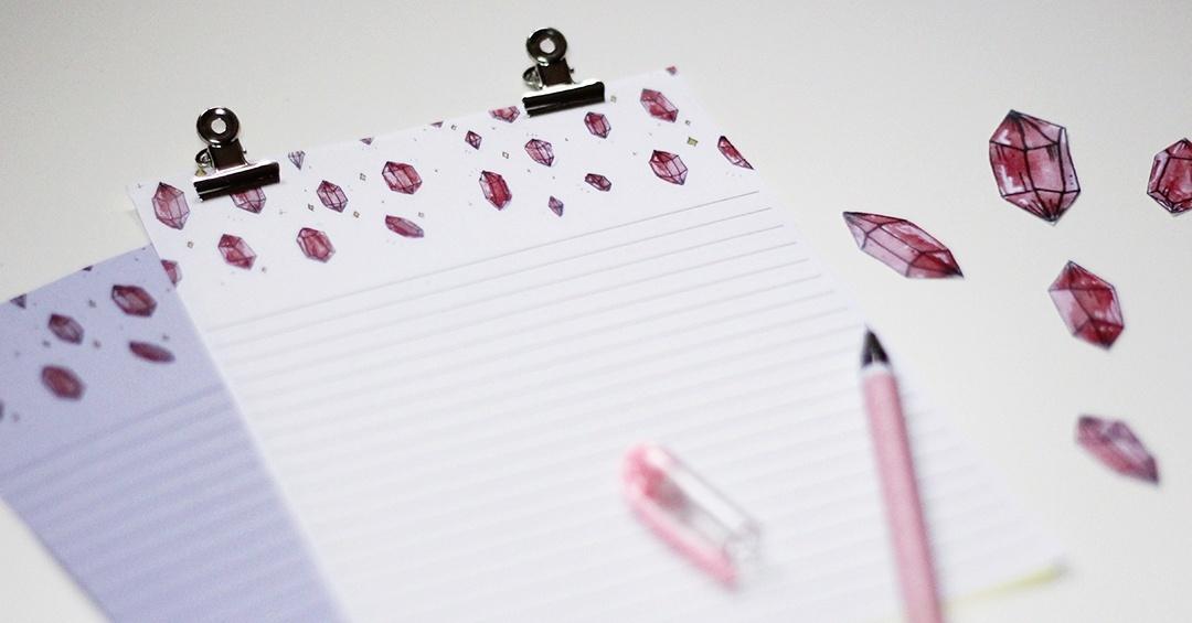 Pink Crystals Letter Set