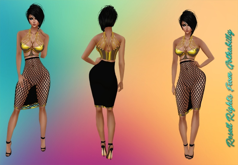 Black & Gold Crush Dresses Exclusive Catty Only!!!