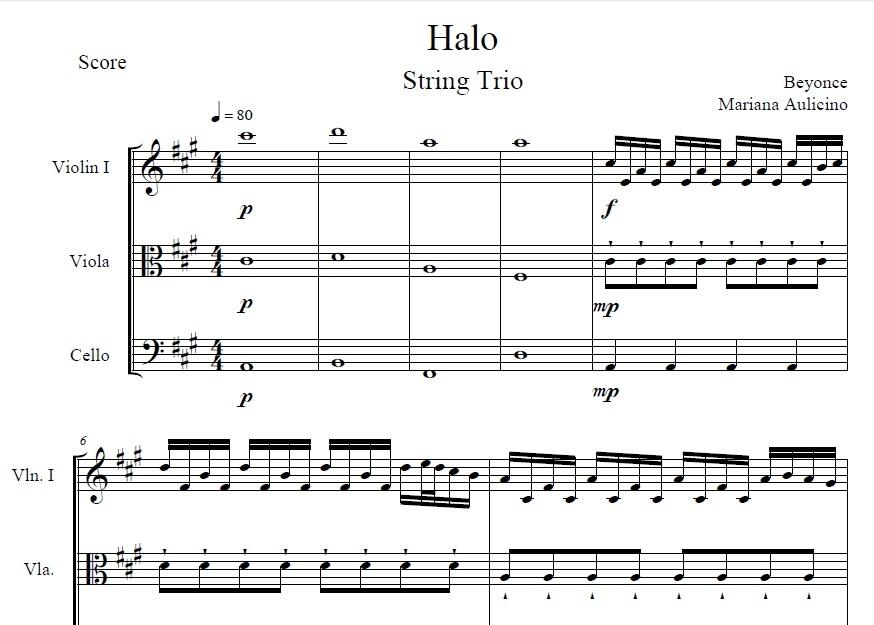 Halo - Beyoncé - String Trio