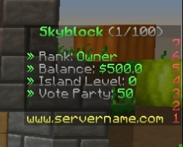 Premade Skyblock Server