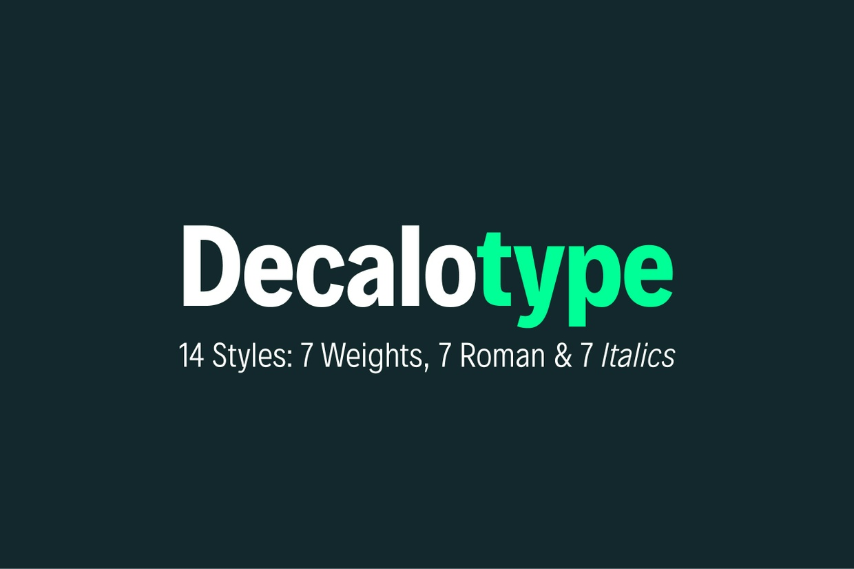 Decalotype Typeface