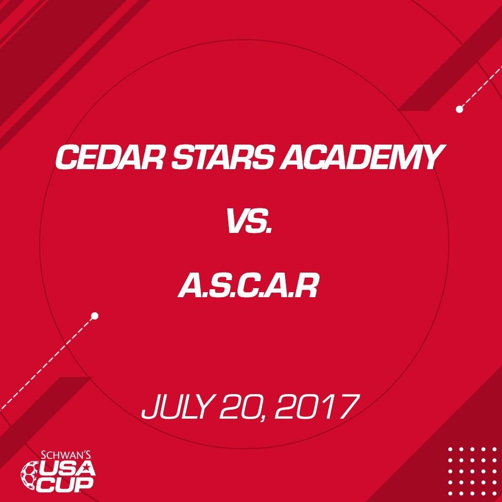 Boys U17 Gold - July 20, 2017 - Cedar Stars Academy vs A.S.C.A.R