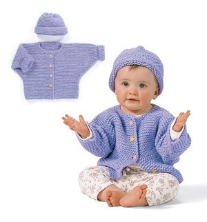 Baby Bat Sleeve Cardi & Hat